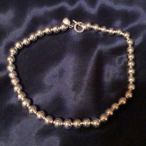 Ralph Lauren silver bead necklace